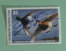 1996 Minnesota DNR Waterfowl Duck Hunting Stamp License Tag...Free Shipping!