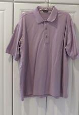 ALBERT ROSS MEN'S POLO GOLF SHIRT Short sleeve 100% Mercerized Cotton sz Large