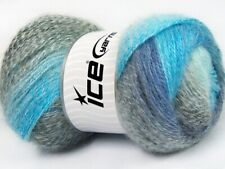 Oceania Mohair Pastel Yarn #61004 Ice Acrylic Wool Mohair Fine Weight 100g 546y