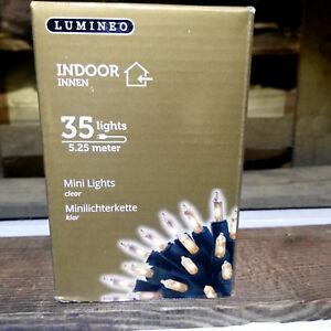 Lichterkette Innen 35 Lichter 5,25m Kabel Lumineo Innen Kabel Grün Lumineo