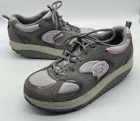 SKECHERS Shape Ups Toning Walking  Shoes Gray Pink Womens Size 10 11806