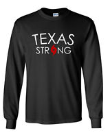 Long Sleeve Men's Texas Strong T Shirt Hurricane Harvey Tee Support