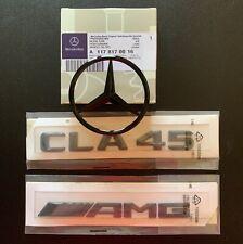 Mercedes CLA W117 Rear Boot Star + CLA45 AMG Badge Emblem Set - Gloss Black 🇬🇧