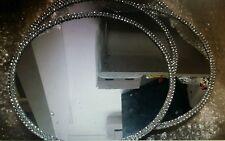 10 Round Mirror Wedding Centrepiece Bases With Diamonte Trim 25cm
