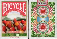 Four Seasons Spring Bicycle Playing Cards Poker Size Deck USPCC Custom Limited