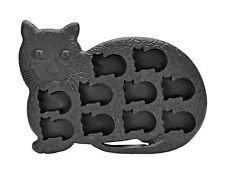 Cat Kitten Shape 10 Ice Cube Tray Mold Black Rubber Novelty Gag Gift Pet Kitty
