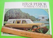 1976 CADILLAC / SUPERIOR HEARSE FUNERAL CAR DLX COLOR CATALOG Brochure 12-p XLNT