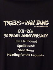 "TYGERS OF PAN TANG ""Hellbound 30 years anniversary"" t.shirt-NWOBHM-S"