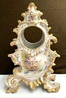 Superbe carcasse petite pendule Porcelaine Limoges Louis XV Rocaille 1900 XIXe