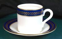 Coalport Blue Wheat Coffee Cans & Saucers - Excellent Condition