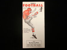 1963 TSN Football Handbook & Schedules Booklet