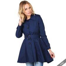 Abrigos y chaquetas de mujer de color principal azul 100% algodón talla 38