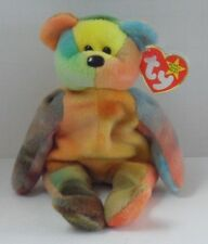 007f2c2ce0c TY GARCIA the TY-DYED BEAR BEANIE BABY with TAG - PRETTY YELLOWS - SEE