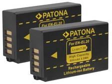2 x Patona-Akku für Kamera Nikon Coolpix A / Coolpix P1000  EN-EL20, EN-EL20a
