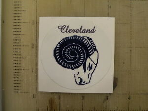 Vintage NFL Cleveland Rams football logo sticker decal