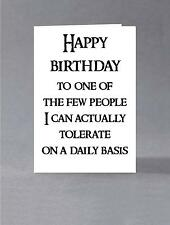 Sarcastic birthday card, for her, for him, greeting card, Squidge Face Cards
