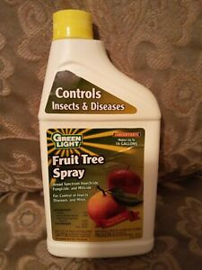 GREEN LIGHT Fruit Tree Spray Insecticide Fungicide Insect/Pest/Disease 16 oz NEW