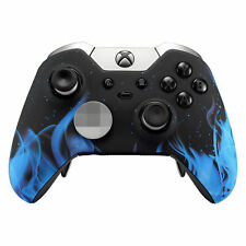 For Xbox One Elite Controller Faceplate Top Shell Soft Touch Blue Flame Design