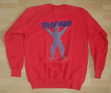 TRACKER Man Skateboard Crew Sweat Top  Red - L - Vintage '80s  Old School