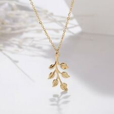 Fashion Simple Leaf Gold Pendant Necklace Choker Clavicle Chain Lady Jewelry New