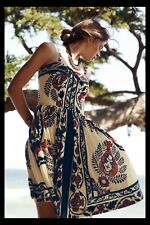 NWT Anthropologie Yoana Baraschi Sweetwater Dress Beaded Fit & Flare 8 $188 RARE