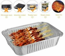 BESTOMZ Tin Foil Tray BBQ Grilling Baking Drip Pans Barbecue Dish Tool - 30 Pack
