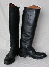 Black Dehner leather riding boots, zippered back, shorter shaft height, size 7C