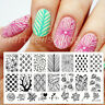 BORN PRETTY Nagel Stempel Schablone Blume Nail Art Stamping Template Plates