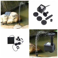 7V/1.2W Fontaine Pompe L'eau Solaire Panneau Pump Pr Jardin Etang Bassin Pisine