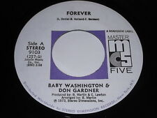 Baby Washington & Don Gardner: Forever / Baby Let Me Get Close To You 45