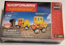 Magformers Cruiser Construction Set 31 Piece Vehicle Set Line Magnet STEM Toy