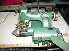 Adamson aveugle Industrielle Hemmer coupe machine à coudre c / w nouveau moteur et plateau de table
