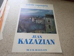 1975.affiche exposition Jean Kazazian.Galerie Capangela.
