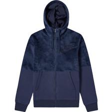 Nike Hairy Sherpa Winter Hoodie New Men's Obsidian 2018 Sportswear 929117-451