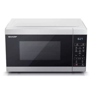 Sharp YC-MS51U-S Microwave Oven 25L Silver Digital Solo Counter Top 900W