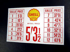 Red Vintage Style Petrol Pump Price List Sticker Shell
