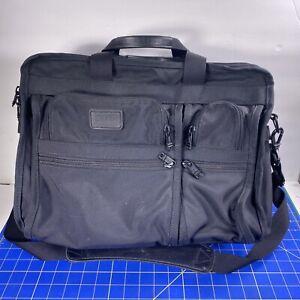 Tumi T-pass 2621D3 Black Ballistic Nylon Expandable Organizer Laptop Briefcase
