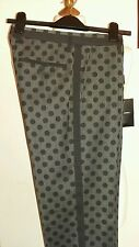 "DOLCE & GABBANA Polka Dot Trouser Pants Grey Size IT 44 uk 30""W RRP £520 ITALY"