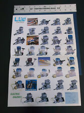 VINTAGE LEO ENGINES BROCHURE R/C DIESEL ELECTRIC CAR BOAT HELI PLANE  *G-COND*