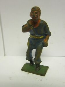 Vintage Barclay Manoil Cast Iron Toy Pirate w/ Daggar