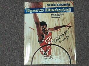 DAVID THOMPSON Signed SI 11x14 Photo Autograph NC State Basketball 1974 Champs