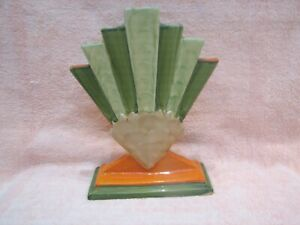 Rare Art Deco Fan Vase Myott 1930,s.