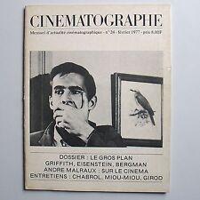 Cinématographe N° 24. Dossier : Le Gros Plan.
