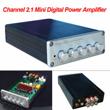 Mini Digital Power Amplifier 2.1 Channel Stereo Audio Amp 100W Subwoofer 2×50W