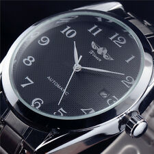 Self Winding 3 Hands Mens Automatic Stainless Steel Mechanical Watch Date New