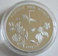 Samoa 10 Tala 1994 Protect Our World Orchideen Silber