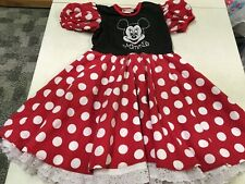 DISNEY WORLD PARKS RESORT MINNIE MOUSE DRESS UP HALLOWEEN COSTUME  GIRLS 6  6X
