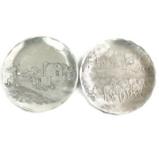 Wendell August Forge Coasters Amish Horse Coming Home Fall Harvest Aluminum