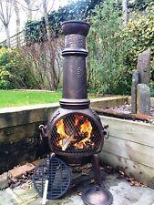 🔥 Blooma Etinas Steel Outdoor Chiminea - Garden Wood Log Burner Free Delivery