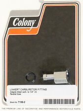 Linkert Carburetor Fitting with O-ring for Flex Fuel Line Chrome Colony 7158-2